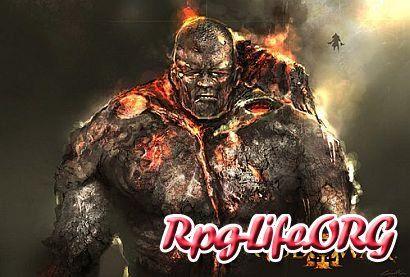 Изображение огненного титана в God Of War 3