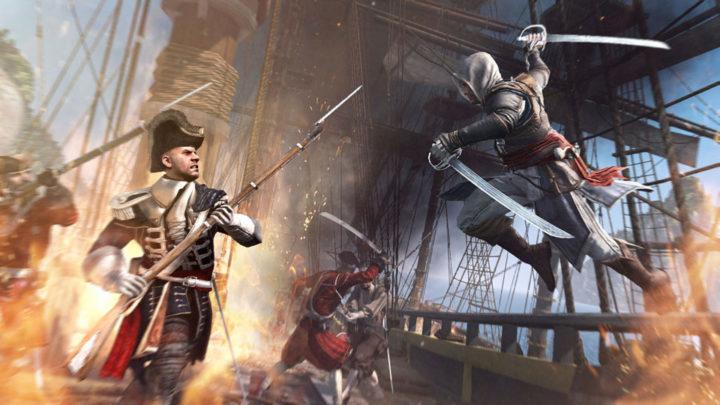 Assassins creed 4 black flag и весёлый Роджер на ветру